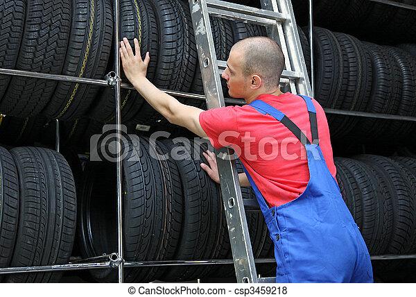 Tire Workshop - csp3459218