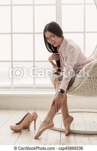 Asian female feet