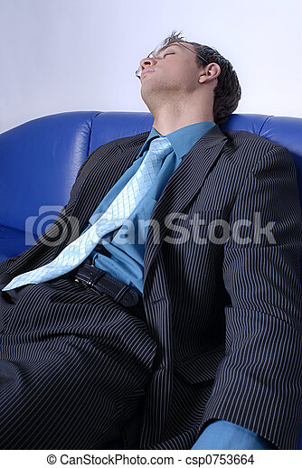 Tired businessman - csp0753664