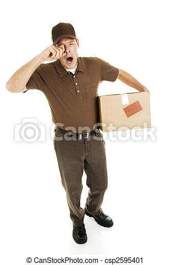 Tired Delivery Man - csp2595401
