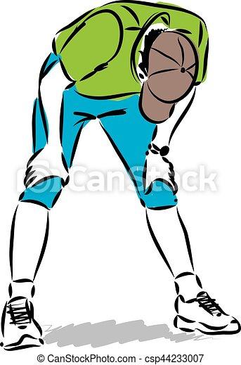 tired fitness man illustration vector clipart search illustration rh canstockphoto com tires clip art tire clip art free