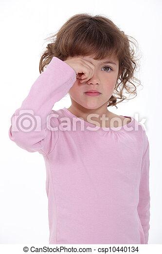 Tired little girl - csp10440134