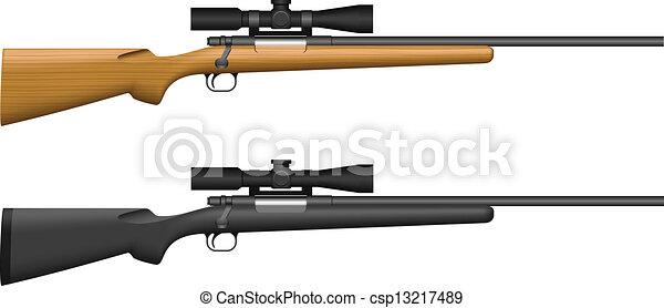 tireur embusqué, fusil - csp13217489