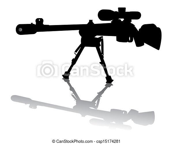 tireur embusqué, fusil - csp15174281