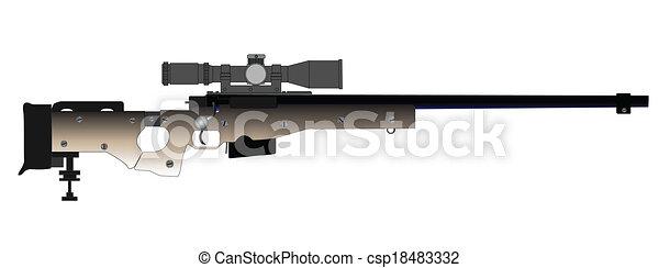 tireur embusqué, fusil - csp18483332