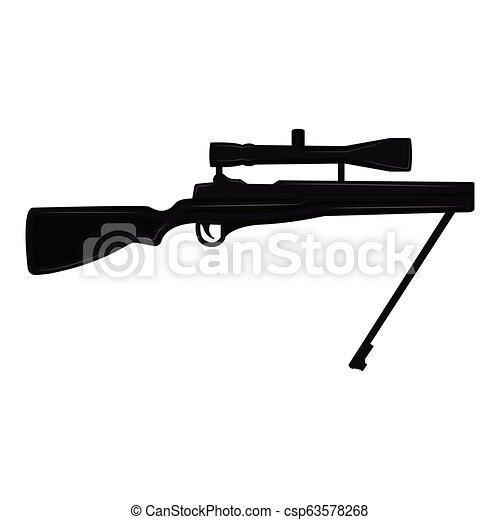 tireur embusqué, silhouette, fusil - csp63578268