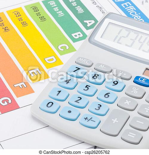 Tráfico de eficiencia de energía y calculadora - csp26205762