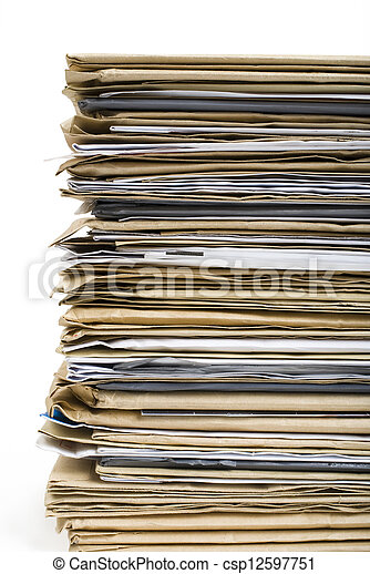 Archivo Stack en blanco - csp12597751