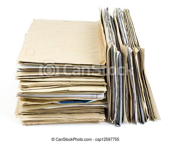 Archivo Stack en blanco - csp12597755
