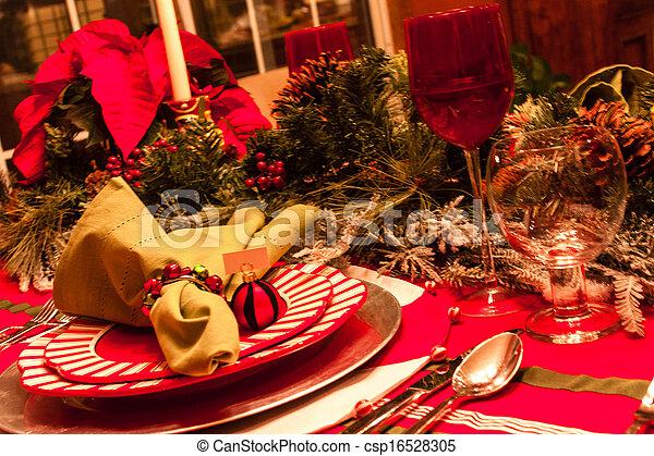Abendessen Weihnachten