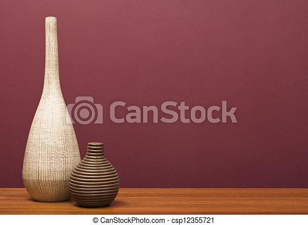 tisch, vasen - csp12355721