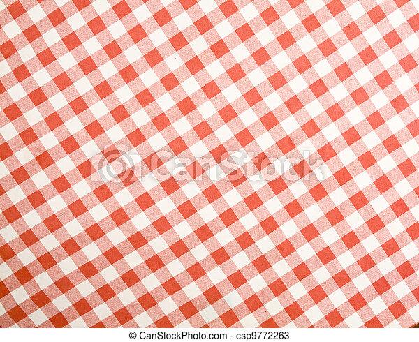 tischtuch, stoff, texture-checked - csp9772263