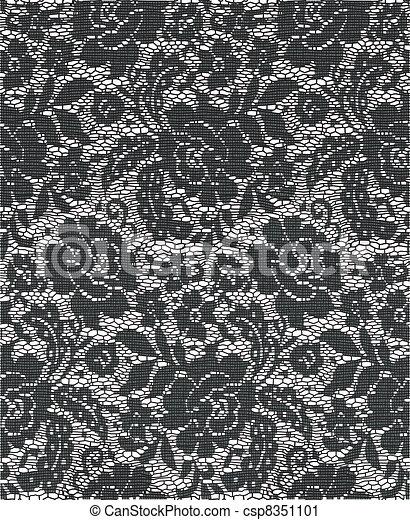 tissu, dentelle - csp8351101