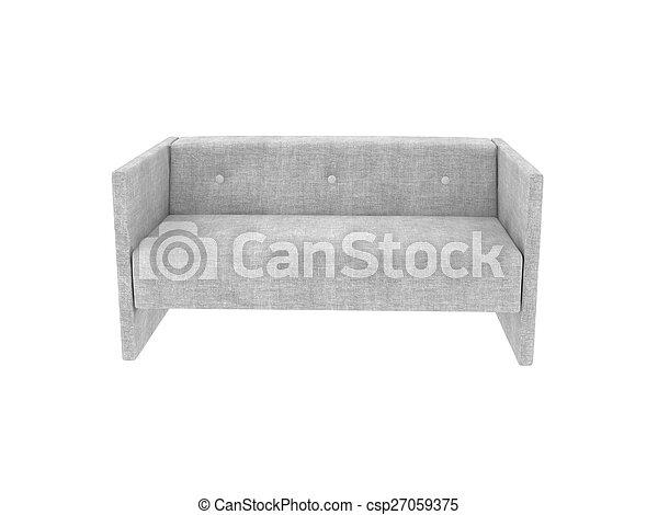 tissu, sofa - csp27059375