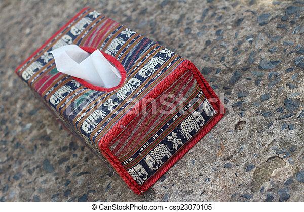 Tissue Box Elephant Is The Symbol Of Thailand