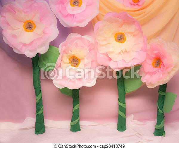 Tissue paper flowers cute huge tissue paper flowers for props tissue paper flowers csp28418749 mightylinksfo