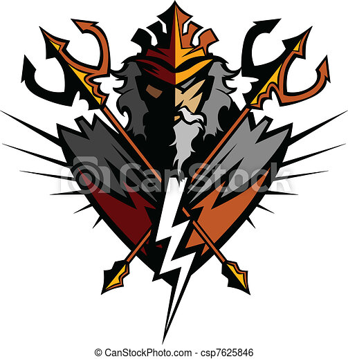 titan mascot with trident and crown greek god tridents and clip rh canstockphoto com mascot clipart software mascot clip art free images