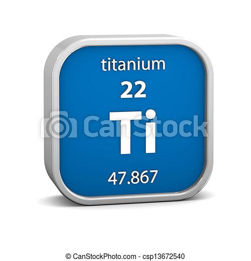 Titanium-Materialzeichen - csp13672540
