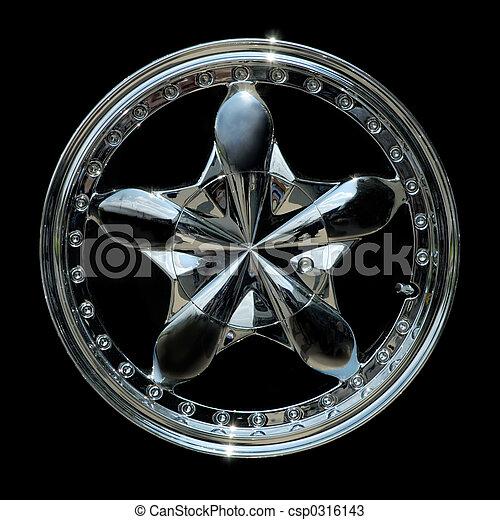 Titanium car rim texture isolated - csp0316143