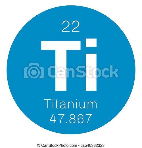 Titanium chemical element transition metal of high strength titanium chemical element transition metal of high strength colored icon with atomic number and atomic weight chemical element of periodic table urtaz Gallery