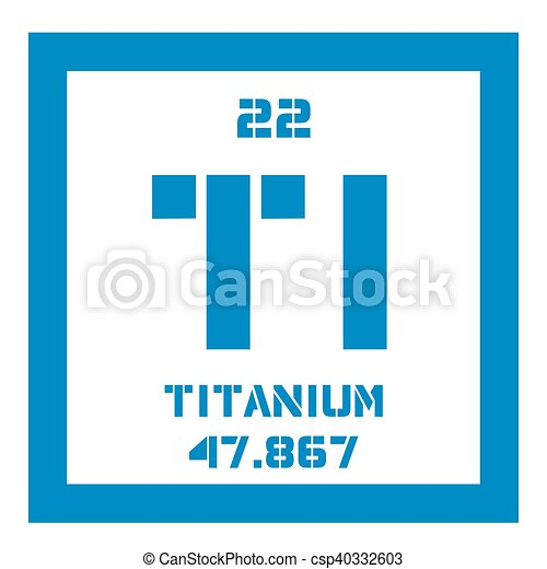 Titanium chemical element transition metal of high strength titanium chemical element transition metal of high strength colored icon with atomic number and atomic weight chemical element of periodic table urtaz Choice Image