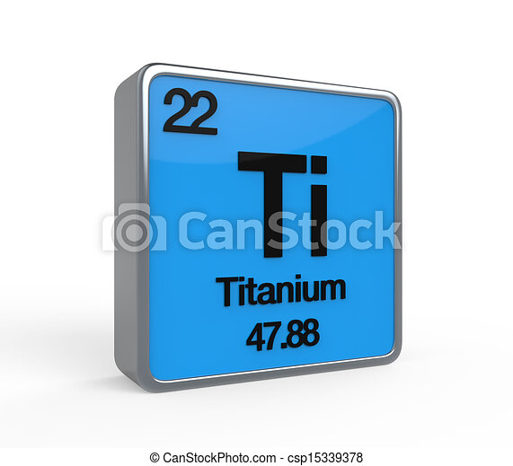 Titanium element periodic table isolated on white stock titanium element periodic table csp15339378 urtaz Gallery