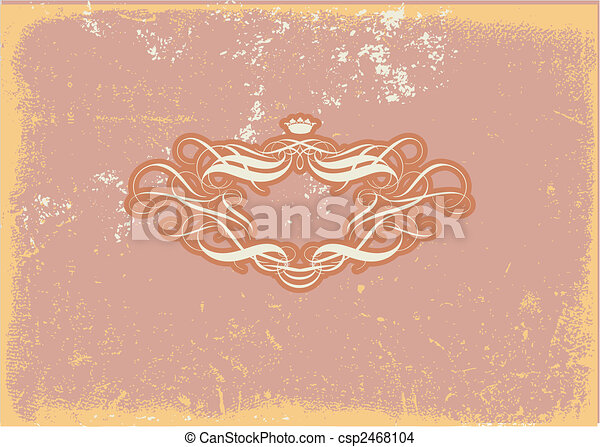 Encuadre heráldico - csp2468104