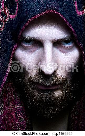 titokzatos, ijedős, látszó, ember - csp4156890