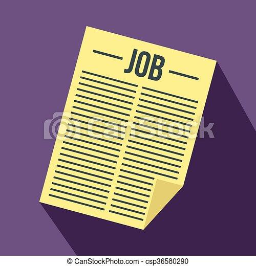 titolo, giornale, lavoro, icona - csp36580290