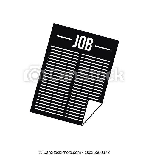 titolo, giornale, lavoro, icona - csp36580372