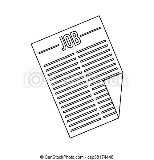 titolo, giornale, lavoro, icona - csp38174448