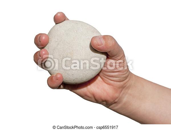 titolo portafoglio mano, roccia - csp6551917