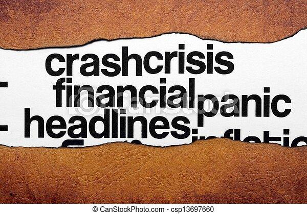 titre, financier, crise - csp13697660