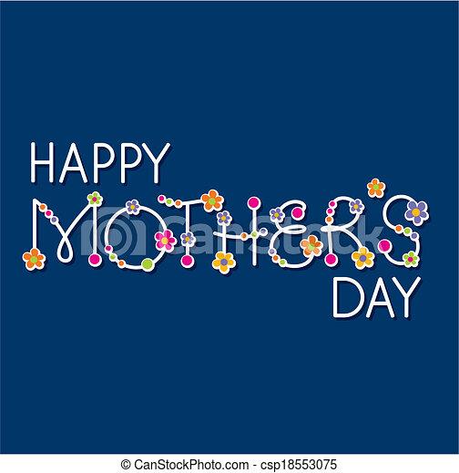 El titular del día de las madres felices - csp18553075