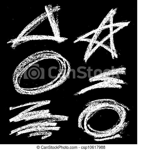 Formas de tiza - csp10617988