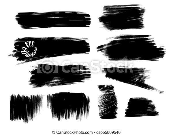 Golpes de tiza y formas de fondo - csp55809546