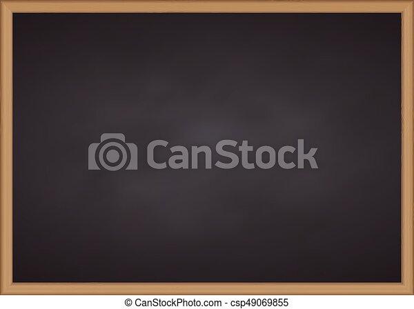 Tiza, marco, madera, negro, tabla. Vector, marco,... vector de ...