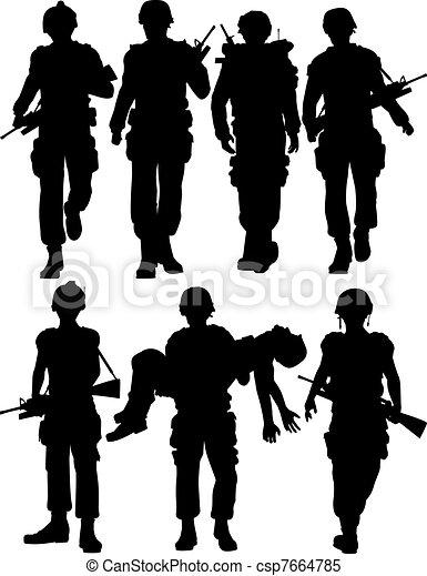 tjäna som soldat - csp7664785