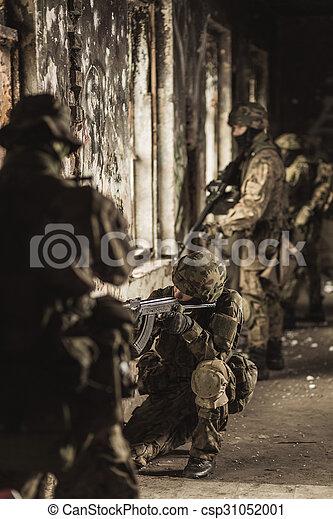 tjäna som soldat, likformig, kamouflage, militär - csp31052001