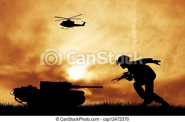 tjäna som soldat - csp12472370