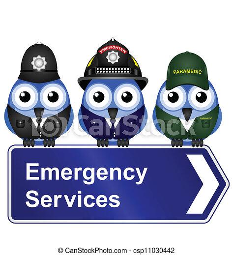 tjenester, nødsituation underskriv - csp11030442