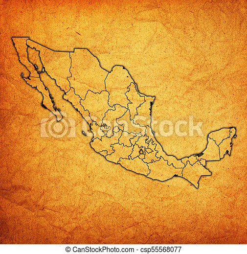 Tlaxcala On Administration Map Of Mexico Emblem Of Tlaxcala State