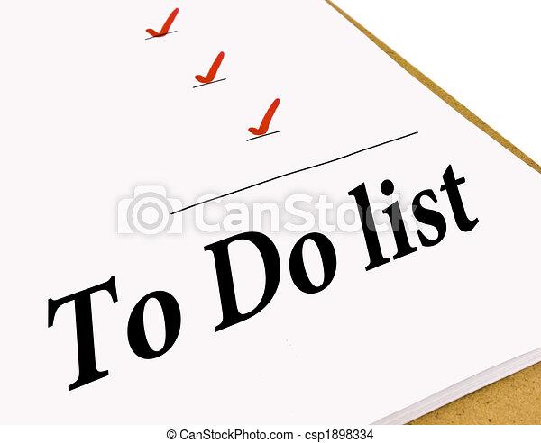 To Do Check List - csp1898334