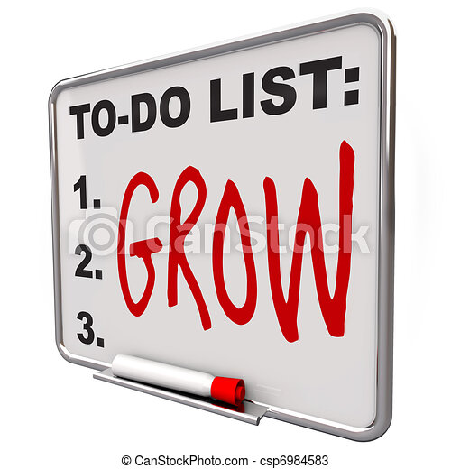 To-Do List - Grow Word on Dry Erase Board - csp6984583