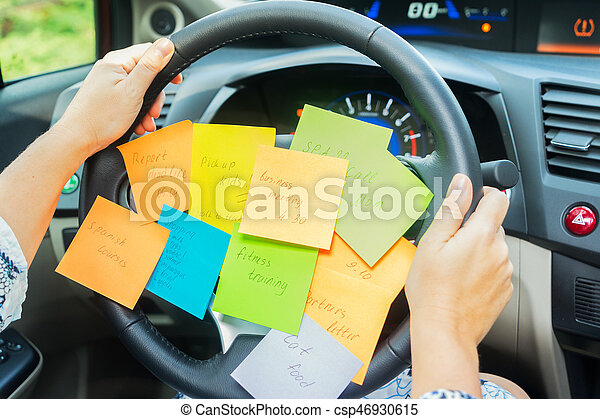 To do list in a car - csp46930615