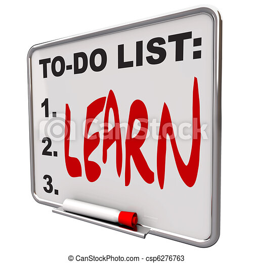 To-Do List - Learn - Dry Erase Board - csp6276763
