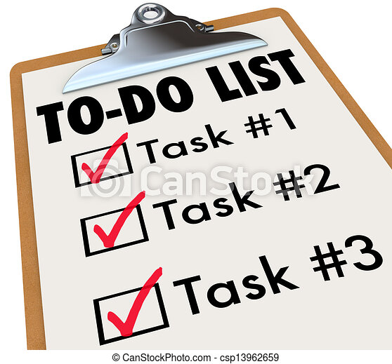 task list illustrations and clipart 4 536 task list royalty free rh canstockphoto com  to do list clipart free