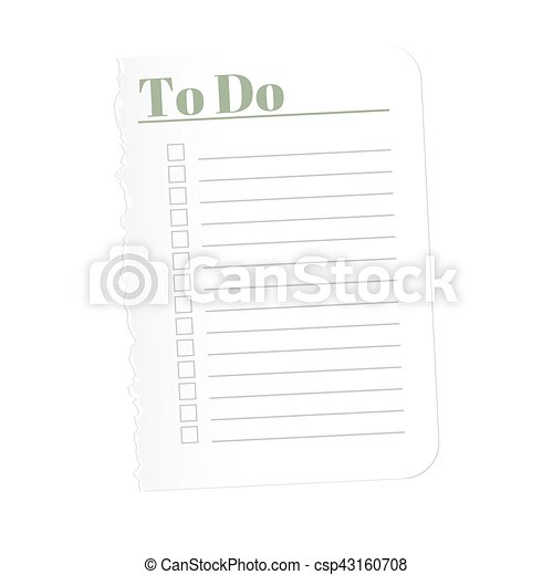 to do list torn a blank sheet of paper to record the completed