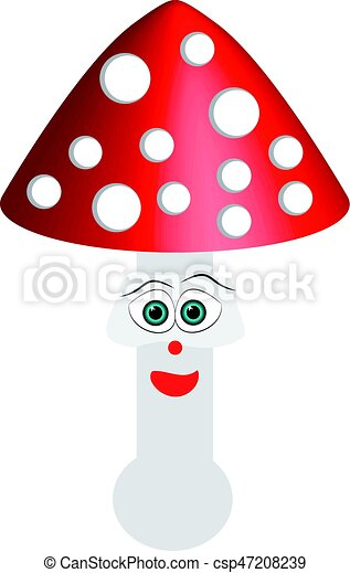 Toadstool isolated on white background - csp47208239
