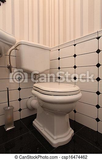 toaleta, dávný podoba - csp16474462
